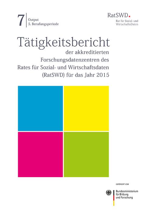 Cover RatSWD Tätigkeitsbericht 2015
