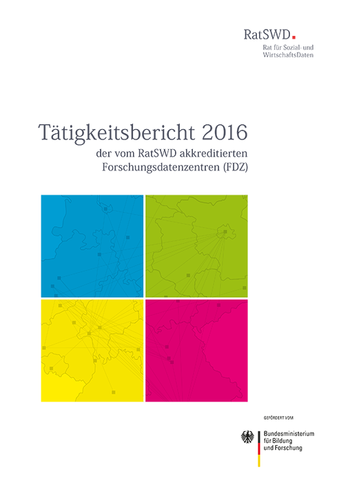 Cover RatSWD Tätigkeitsbericht 2016