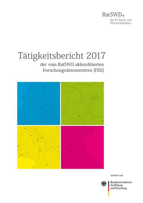 Cover RatSWD Tätigkeitsbericht 2017
