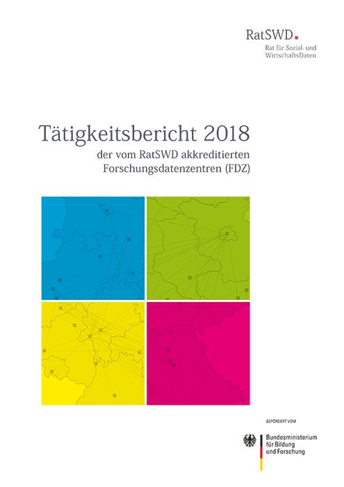 Cover RatSWD Tätigkeitsbericht 2018
